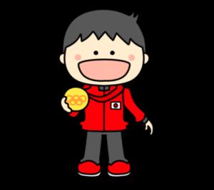 メダリスト オリンピック日本代表 フリー素材 男子 金
