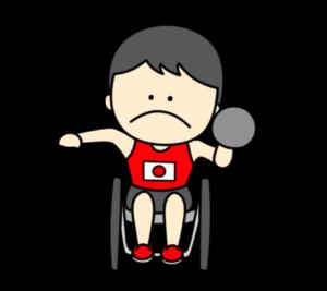 砲丸投げ パラリンピック 日本代表 フリー素材 男子