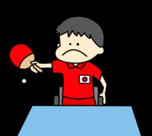 卓球 パラリンピック 日本代表 フリー素材 男子