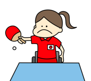 卓球 パラリンピック 日本代表 フリー素材 女子