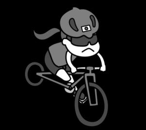 自転車 パラリンピック 日本代表 白黒フリー素材 女子
