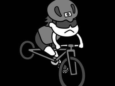 自転車 パラリンピック 日本代表 白黒フリー素材 男子